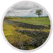 Table Mountain Landscape Round Beach Towel