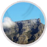 Table Mountain - Still Life With Blue Sky And One Cloud Round Beach Towel