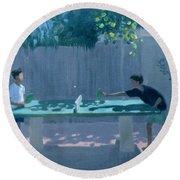Table Tennis Round Beach Towel