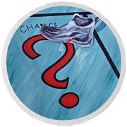 Tacking A Chance Two Round Beach Towel