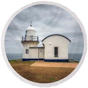 Tacking Point Lighthouse At Port Macquarie, Nsw, Australia Round Beach Towel