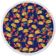 Taco Tuesday  Round Beach Towel