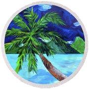Tahiti Beach Round Beach Towel