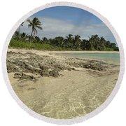 Tahiti Beach,bahamas. Round Beach Towel