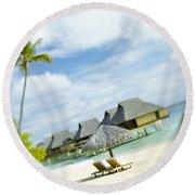 Tahiti, Bora Bora Round Beach Towel