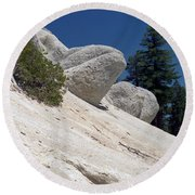 Tahoe Rocks Round Beach Towel
