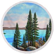Tahoe Shore Round Beach Towel