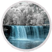 Tahquamenon Falls Ir 720nm Round Beach Towel