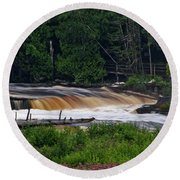 Tahquamenon Lower Falls Upper Peninsula Michigan 04 Round Beach Towel