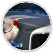 Tail Light Round Beach Towel