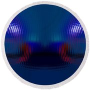 Tail Lights In The Rain Round Beach Towel