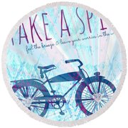 Take A Spin Round Beach Towel