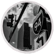 Take A Turn, Chicago, Il Round Beach Towel