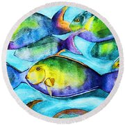 Take Care Of The Fish Round Beach Towel