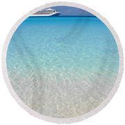 Take Me Back To Half Moon Cay Round Beach Towel