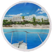 Take Me To La Samanna Round Beach Towel