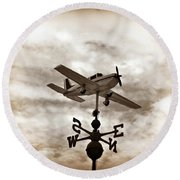 Take Me To The Pilot Round Beach Towel by Bill Cannon