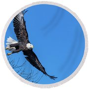 Take Off For Target Round Beach Towel