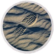 Take Only Pictures Leave Only ... Round Beach Towel