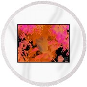 Take Three Floral Abstract Round Beach Towel