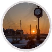 Take Time To Remember Seaside Park Nj Round Beach Towel