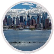 Taking A Free Ride Round Beach Towel by Susan Candelario