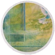 Taking Flight To The Light Round Beach Towel