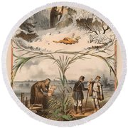 Tale Of The Marche Rich And Basil Homeless 1 Round Beach Towel