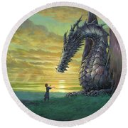 Tales From Earthsea Round Beach Towel