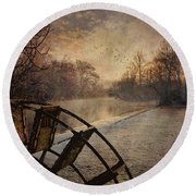 Tales From The Riverbank  II Round Beach Towel
