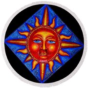 Talking Sun Round Beach Towel