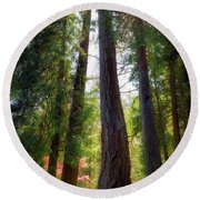 Tall And Mighty Round Beach Towel