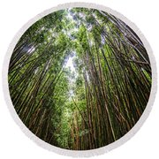 Tall Bamboo Round Beach Towel