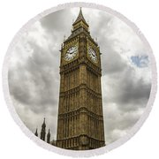 Tall Big Ben Round Beach Towel