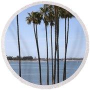 Tall Palms Round Beach Towel
