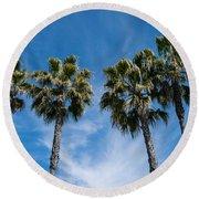 Tall Palms Couples Round Beach Towel