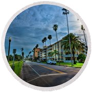 Tall Palms Round Beach Towel