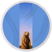 Tall Prairie Dog Round Beach Towel