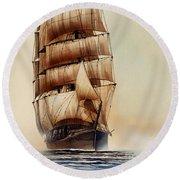 Tall Ship Carradale Round Beach Towel