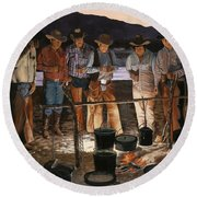 Tall Tales Round Beach Towel