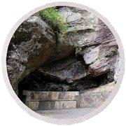 Tallulah Gorge Stone Bench 2 Round Beach Towel