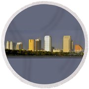 Tampa And Bayshore Round Beach Towel