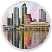 Tampa Bay Alive With Color Round Beach Towel