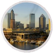 Tampa Bay And Gasparilla Round Beach Towel