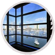 Tampa Bay Florida Round Beach Towel