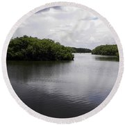 Tampa Bay Inlet  Round Beach Towel
