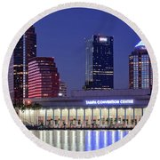 Tampa Convention Center Round Beach Towel