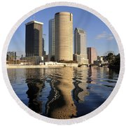 Tampa Florida 2010 Round Beach Towel