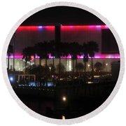 Tampa Museum Of Art Round Beach Towel