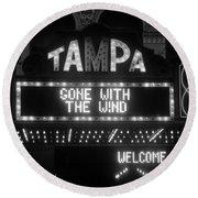 Tampa Theatre 1939 Round Beach Towel